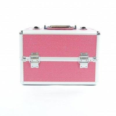 Visagie- koffer klein Roze bling
