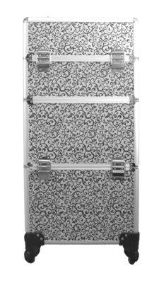 Visagie-nagelstyliste koffer Zilver/ Zwart