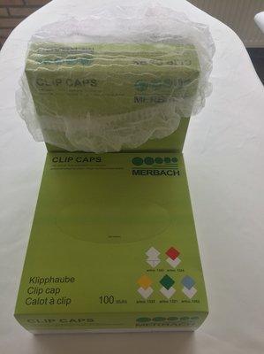 Merbach haarkapjes doos van 100 stuks Clip Caps