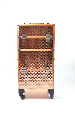 Visagie-nagelstyliste koffer Rose Gold