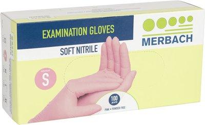 Handschoenen Soft Nitrile S Roze