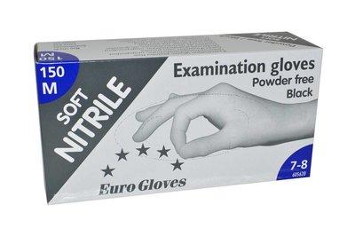 Handschoenen Nitrile eurogloves Zwart M