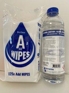 Bio Clean alcohol wipes Navulling 125 stuks