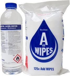 Bio alcohol wipes 80% met dispenser box