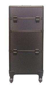 Visagie-nagelstyliste koffer Zwart/ Zwart