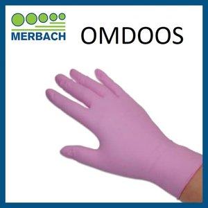 Handschoenen Soft Nitrile XS Roze Omdoos