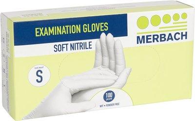 Handschoenen Soft Nitrile M Wit