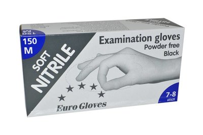 Handschoenen Nitrile eurogloves Zwart S